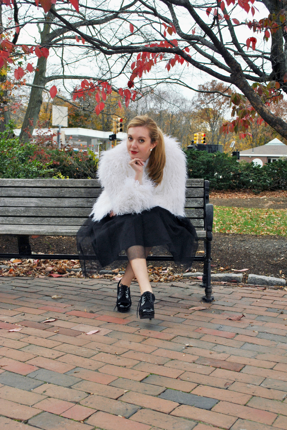 thoughtfulwish | scream queens fashion // scream queens outfit // star wars fashion // star wars outfit // faux fur // shag jacket // tulle skirt // boston fashion blogger // boston fashionista