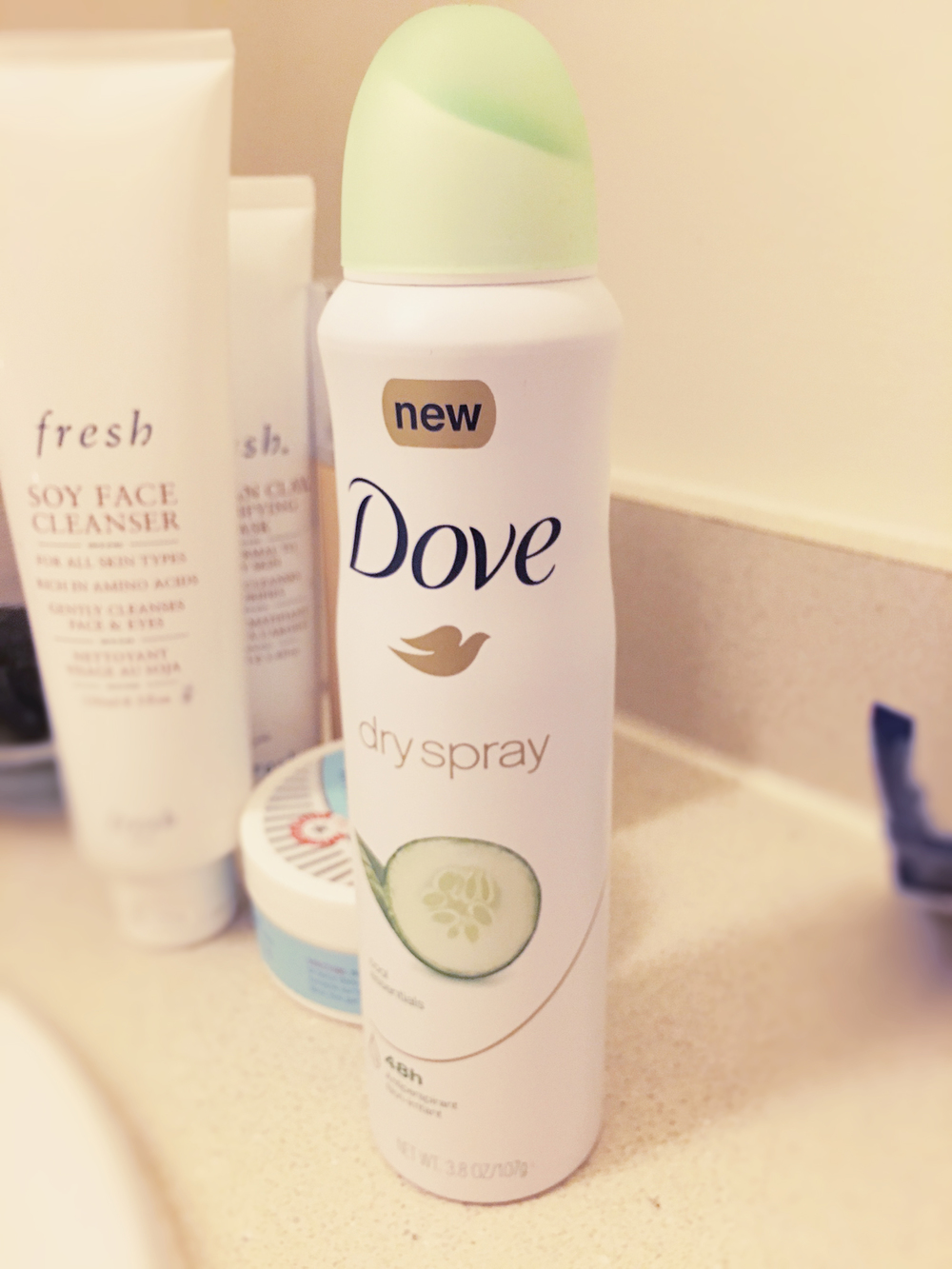 thoughtfulwish | dove dry spray // deodorant // #trydry