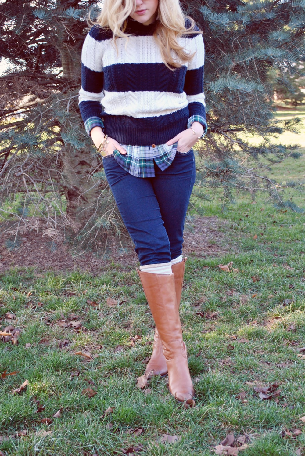thoughtfulwish | boston fashion // new england fashion // j.crew // cashmere sweater // stripe sweater // stripes and plaid // winter outfit // spring outfit // meredith wish