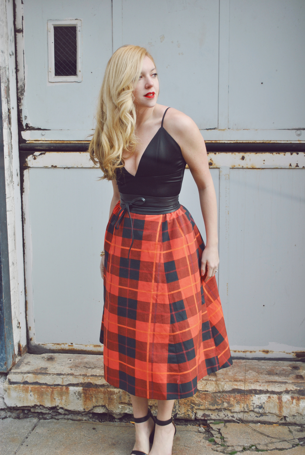 thoughtfulwish | meredith wish // boston // boston blogger // fashion blogger // plaid // valentine's day outfit // valentine's day look // red lip // #ootd // kate spade