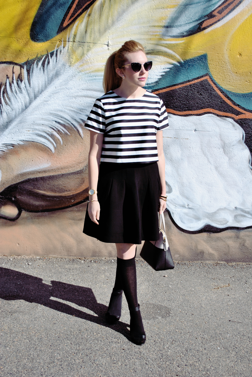 thoughtfulwish | quincy, MA // meredith wish // boston // fashion // fashion blogger // fblog // black and white outfit // stripes // stripe outfit // forever21 // club monaco // kate spade