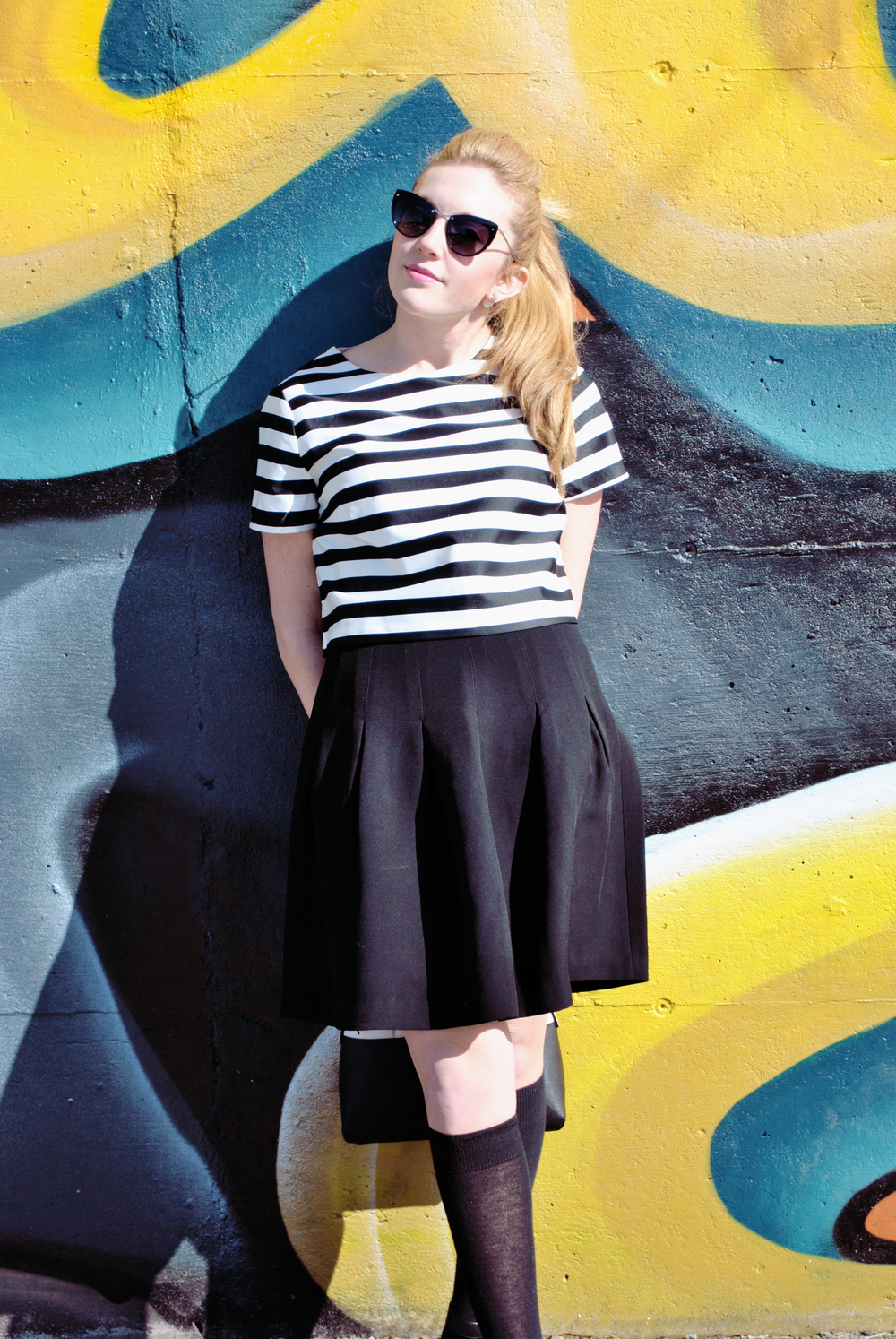 thoughtfulwish | quincy, MA // meredith wish // boston // fashion // fashion blogger // fblog // black and white outfit // stripes // stripe outfit // forever21 // club monaco