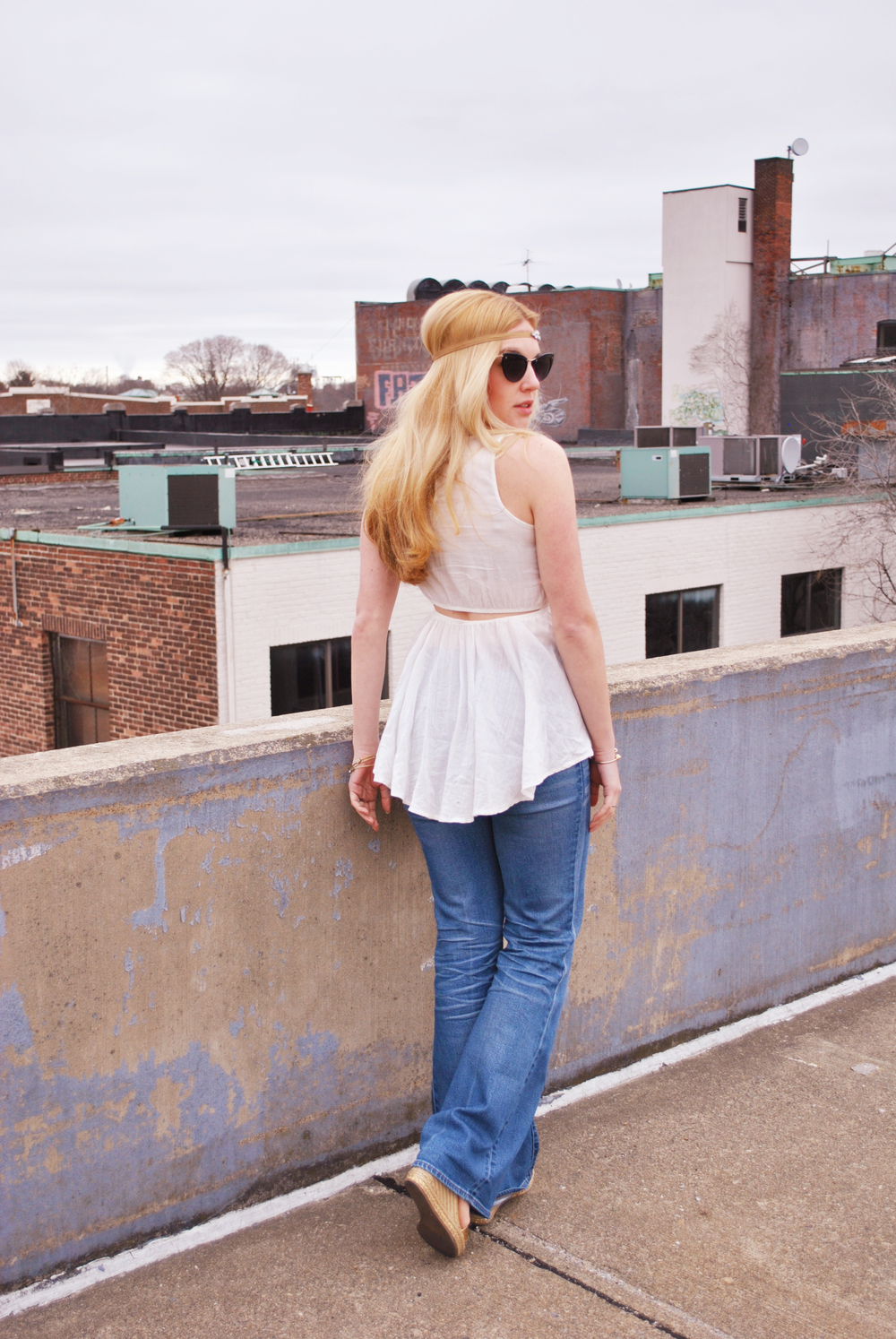thoughtfulwish | hippie chic // boston // boston blogger // fashion blogger // ootd // music festival outfit // madewell // nordstrom // denim outfit // meredith wish