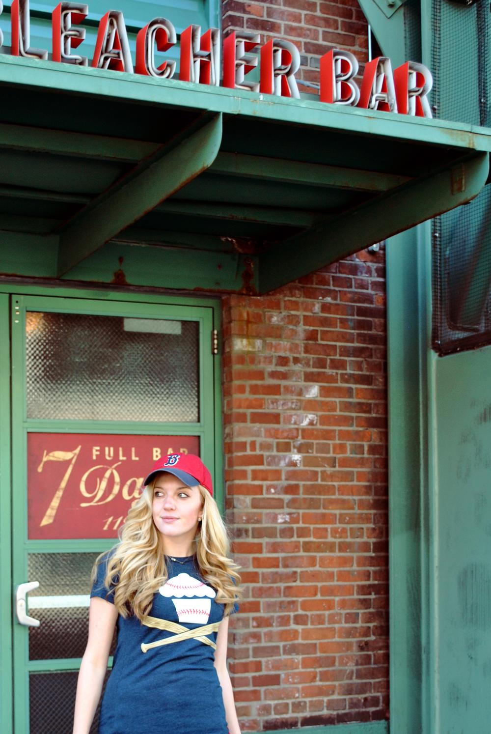 thoughtfulwish | boston // baseball // preppy fashion // red sox fashion // #myfenway // the loft // kate spade // meredith wish // bleacher bar