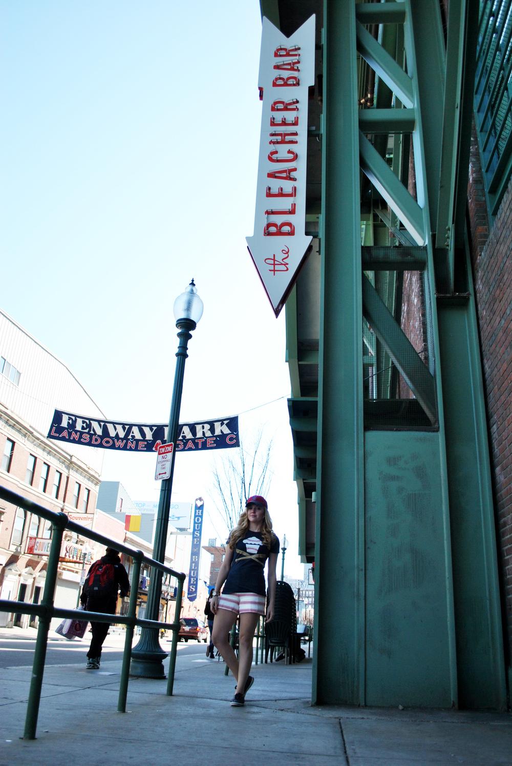 thoughtfulwish | boston // baseball // preppy fashion // red sox fashion // #myfenway // the loft // kate spade // meredith wish