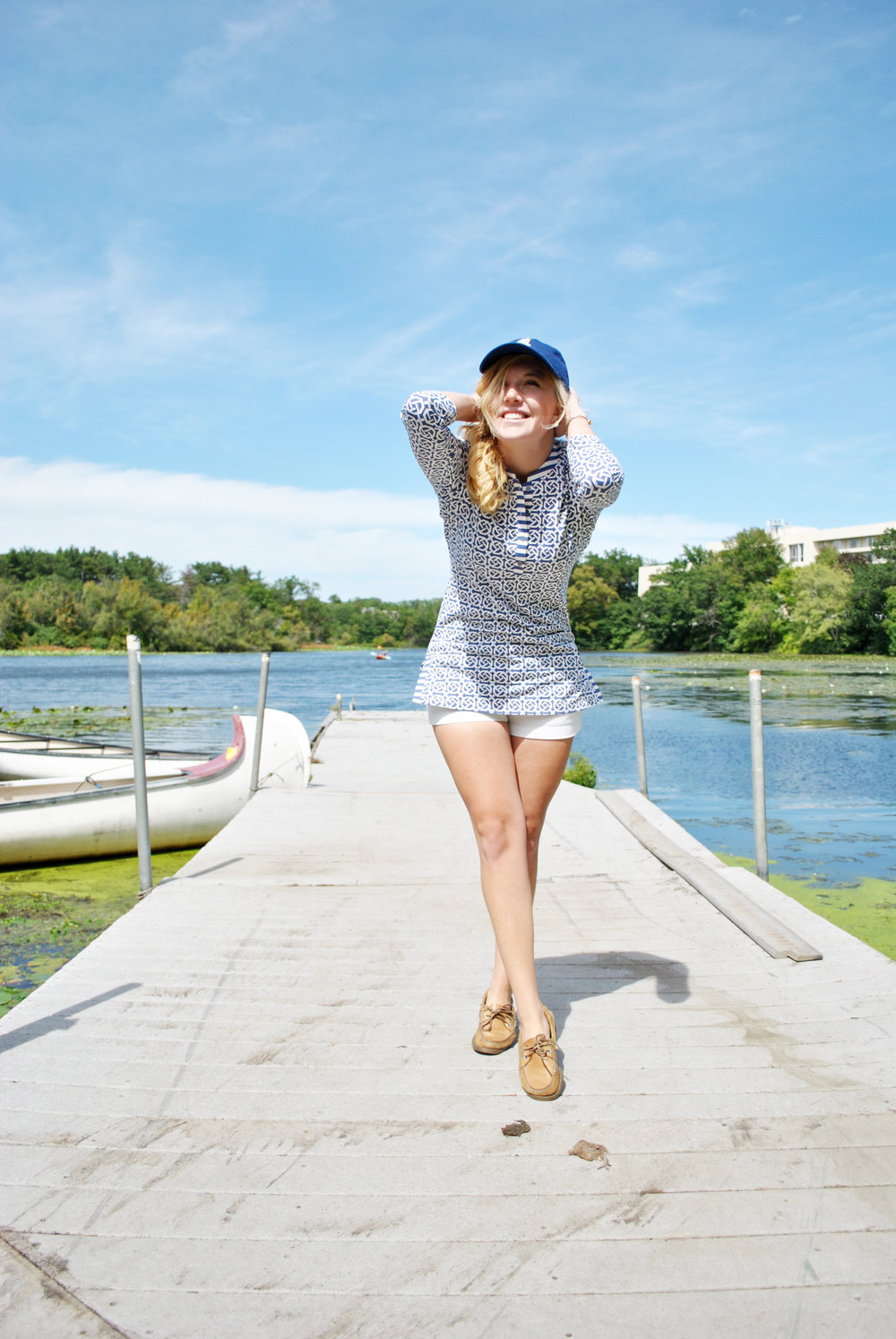 thoughtfulwish | smathers & branson // baseball cap // sailing // sailboat // fblog // fashion blogger // boston // new england fashion // j.mclaughlin // kate spade // meredith wish // boston