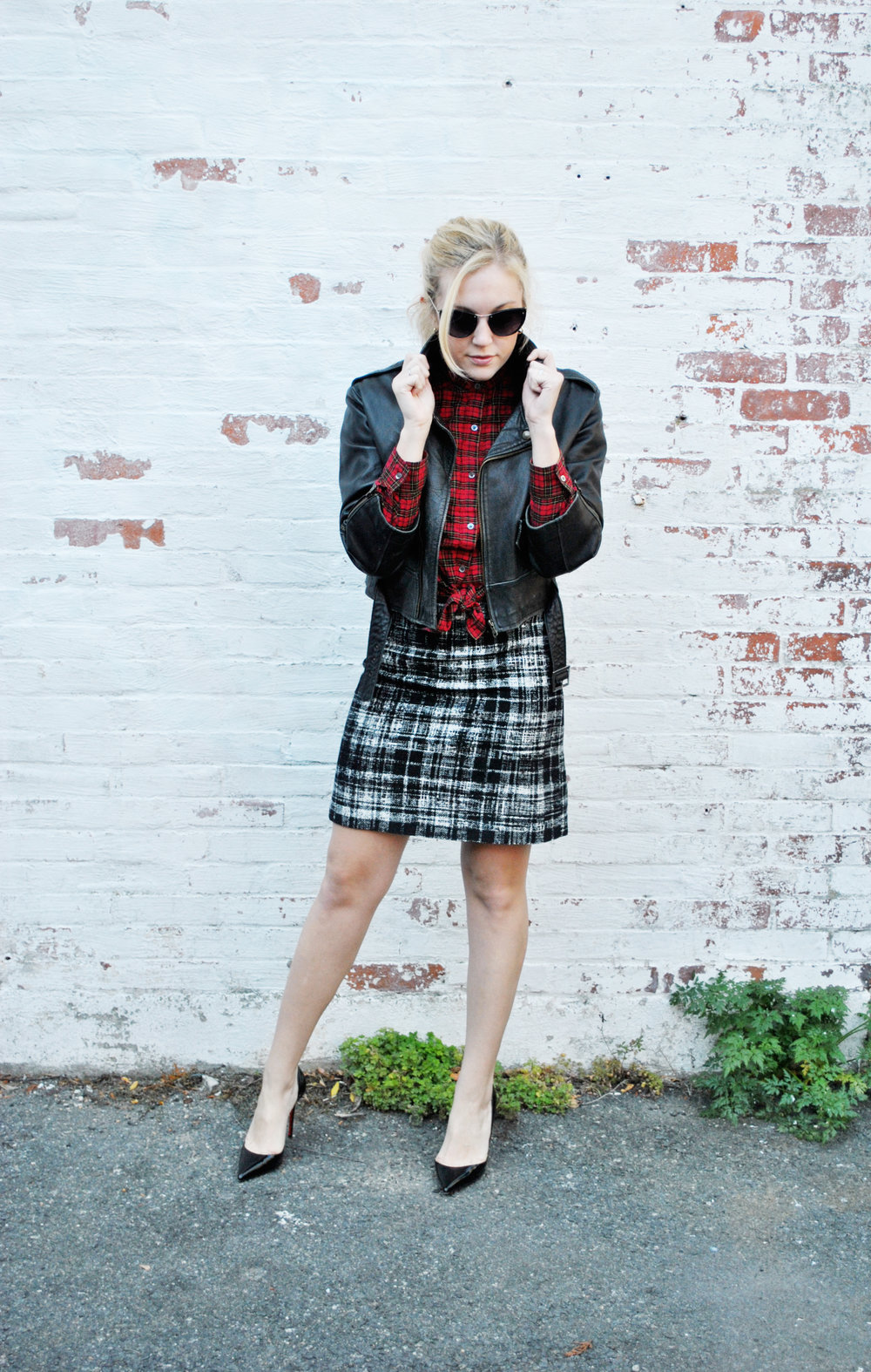 thoughtfulwish | preppy, plaid, plaid outfit, fall outfit, winter outfit, j.mclaughlin, ann taylor, boston fashion, fashion blogger, fblog, christian louboutin
