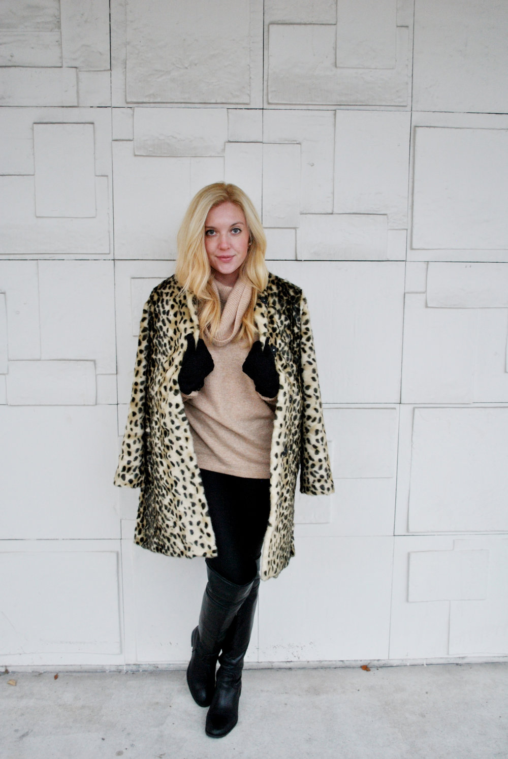 thoughtfulwish | fashion blogger, camel and leopard, camel outfit, the street chestnut hill, wings, angel wings, leopard coat, blonde blogger, preppy, luxe style, boston, meredith wish