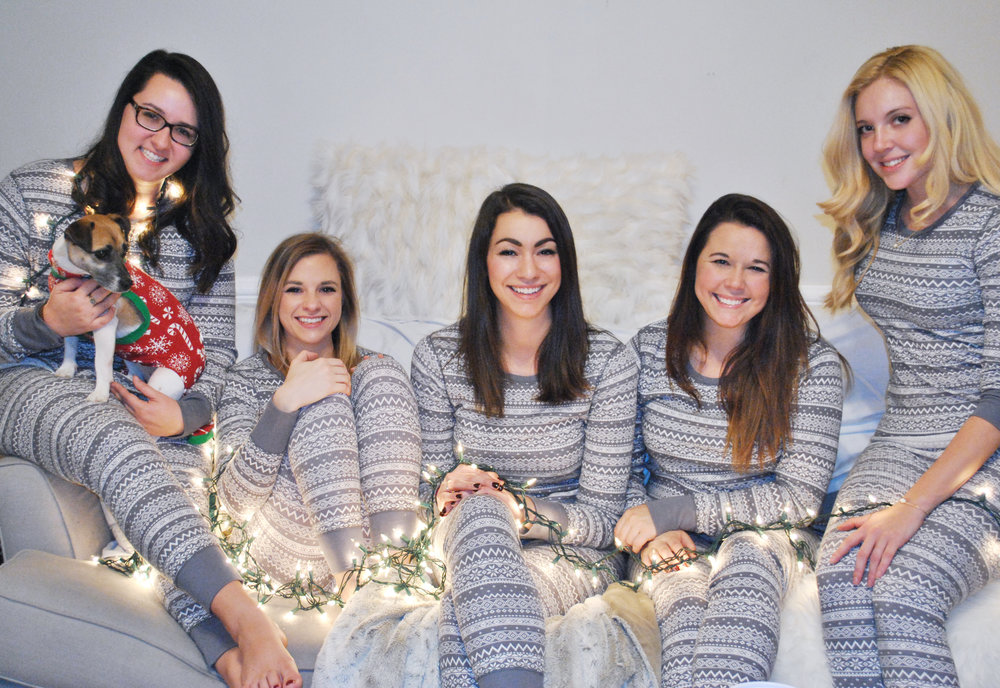 Thoughtfulwish | pajama party, squad goals, old navy, victoria secret, kate spade, fair isle, fair isle pajams, southie