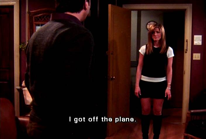 Image result for friends When Rachel got off the plane