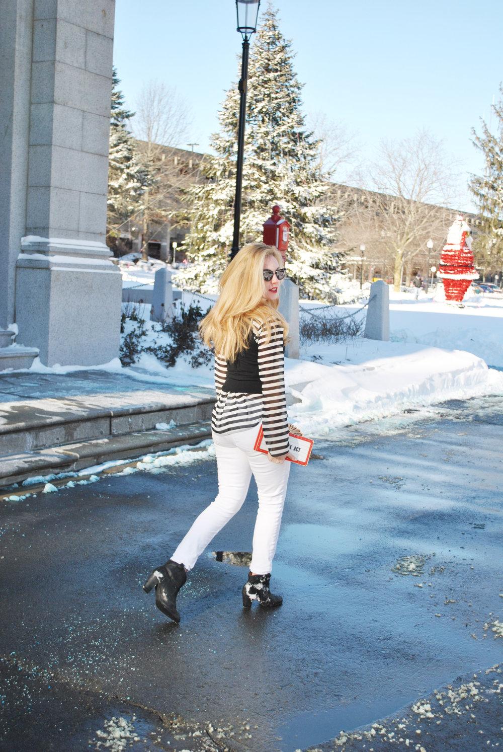 thoughtfulwish | fashion blogger, fashion, kate spade, j.crew, bosblogger, boston blogger, boston fashion, stripes, winter fashion, winter white