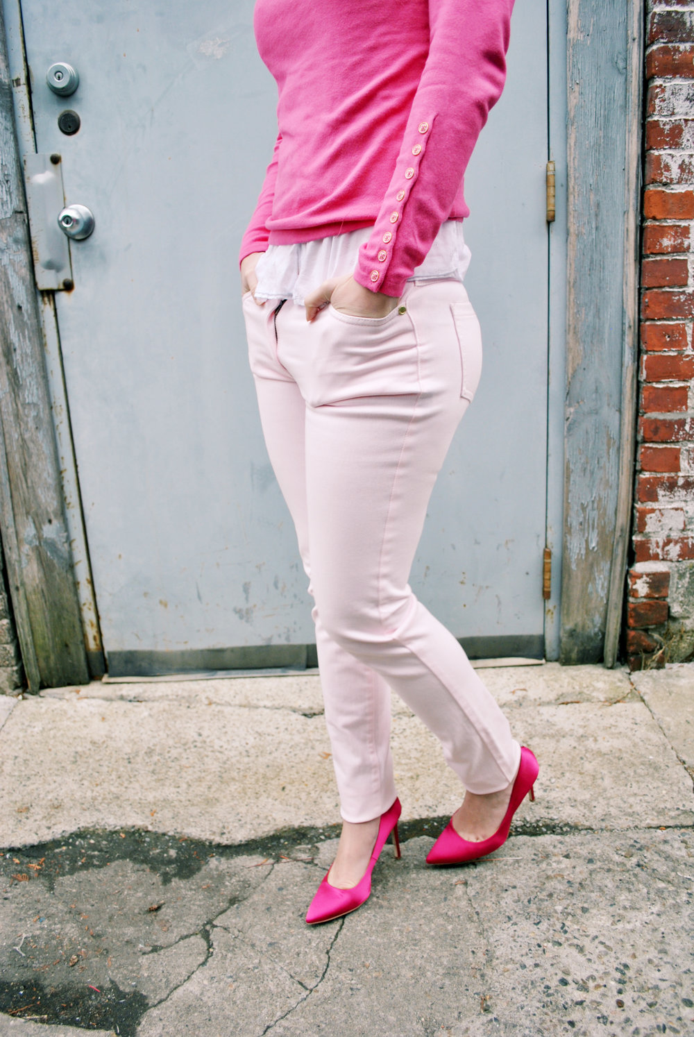 thoughtfulwish | betty cooper, riverdale, inspiration outfit, fashion, fashion blogger, bosblogger, boston blogger, meredith wish, j.mclaughlin, pink outfit, pink sweater, valentine's day outfit