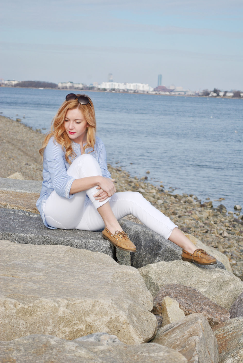 thoughtfulwish l j.mclaughlin, white jeans, spring outfit, tunic, new england fashion, preppy, boston fashion, bosblogger, south shore boston, fashion, blogger