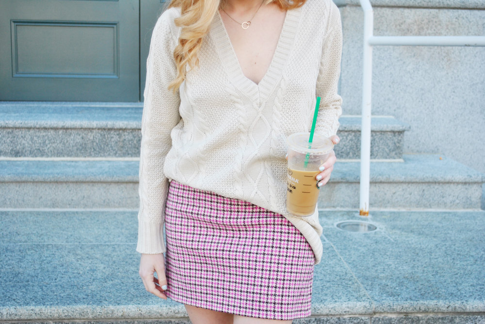 thoughtfulwish | tobi, shop tobi, spring fashion, spring outfit, j.crew, houndstooth, camel, camel coat, camel sweater