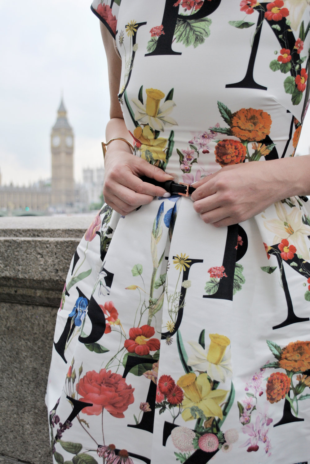 thoughtfulwish | London, ted baker, london eye, big ben, the thames, london style, london fashion, alphabet dress, type dress, meredith wish, bosblogger