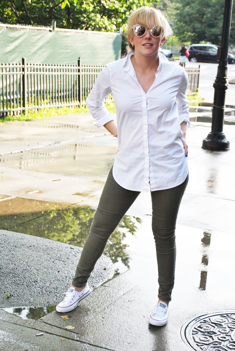 thoughtfulwish | boston, fashion, preppy, oxford shirt, olive, j.crew, fashion blogger, bosblogger, fblogger, fbog, meredith wish