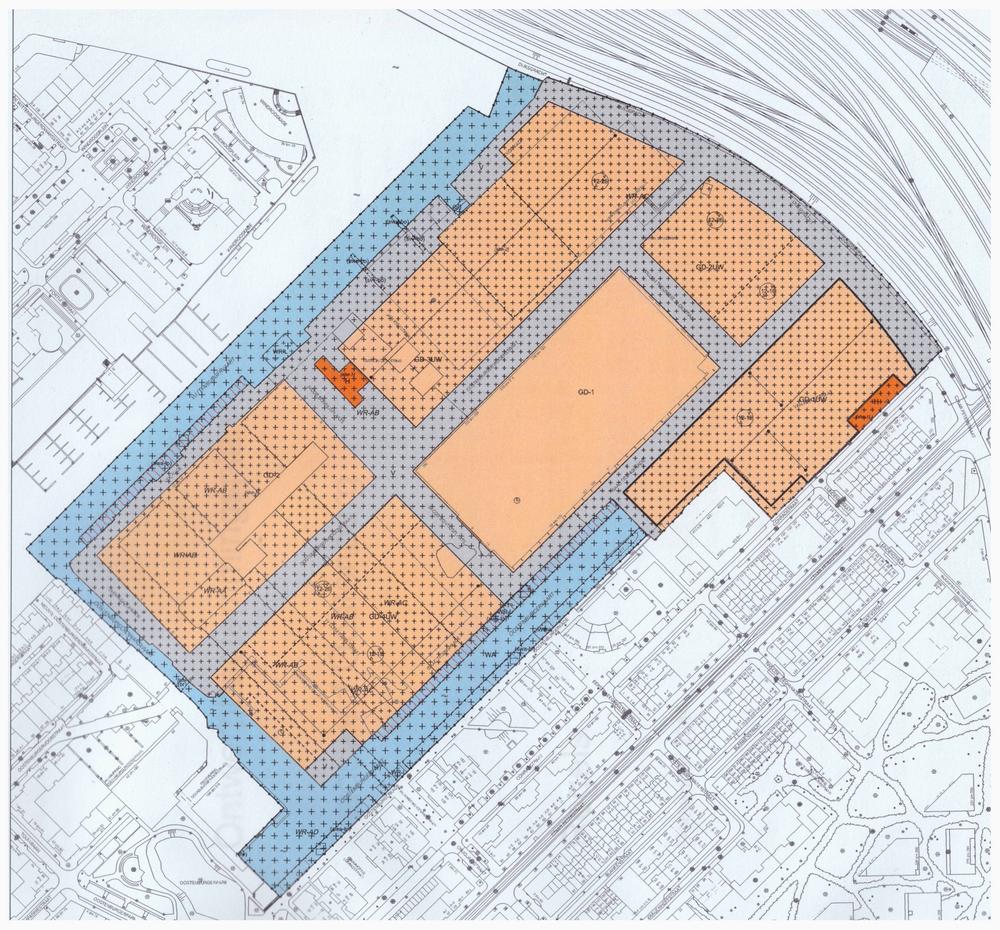 Plankaart ontwerpbestemmingsplan Stadswerf Oostenburg december 2014