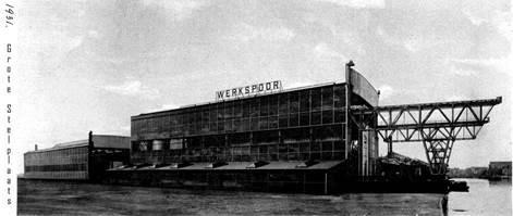 Werkspoorhal 1929 kort na de bouw
