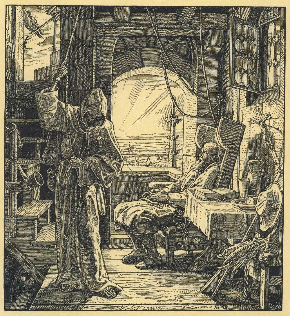 Der Tod als Freund. Van Gogh vond de oude man lijken op de koster van de Oosterkerk.