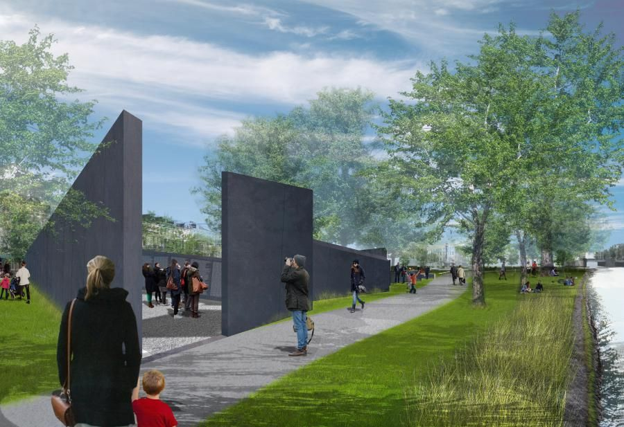 Holocaust Namenmonument, ontwerp Libeskind