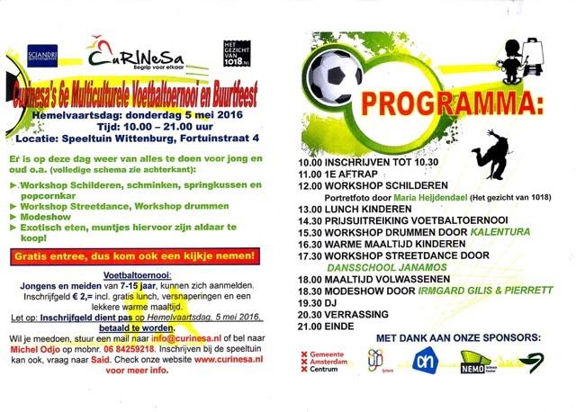 Programma 5 mei in speeltuin Wittenburg