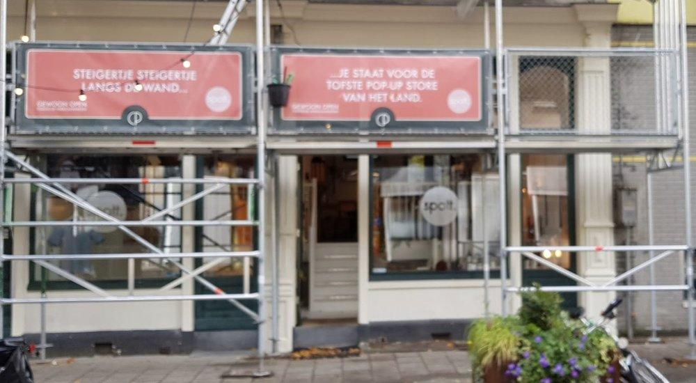 Pop-upstore Spott, Czaar Peterstraat 68