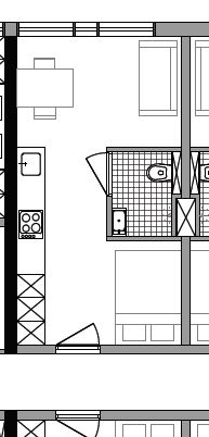 Starterswoning 26 m2 aan corridor