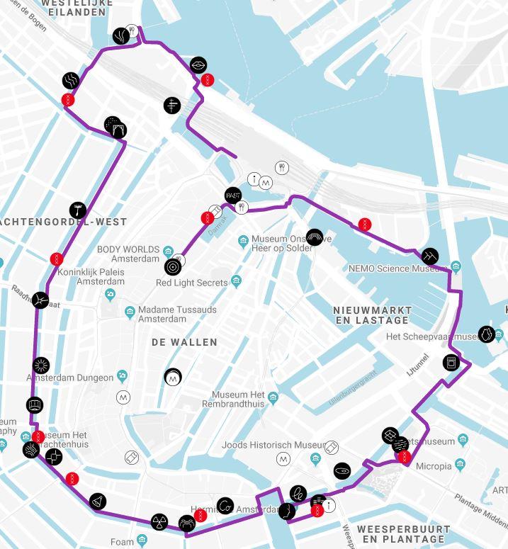 Wandel- en vaarrroute Amsterdam Light Festival