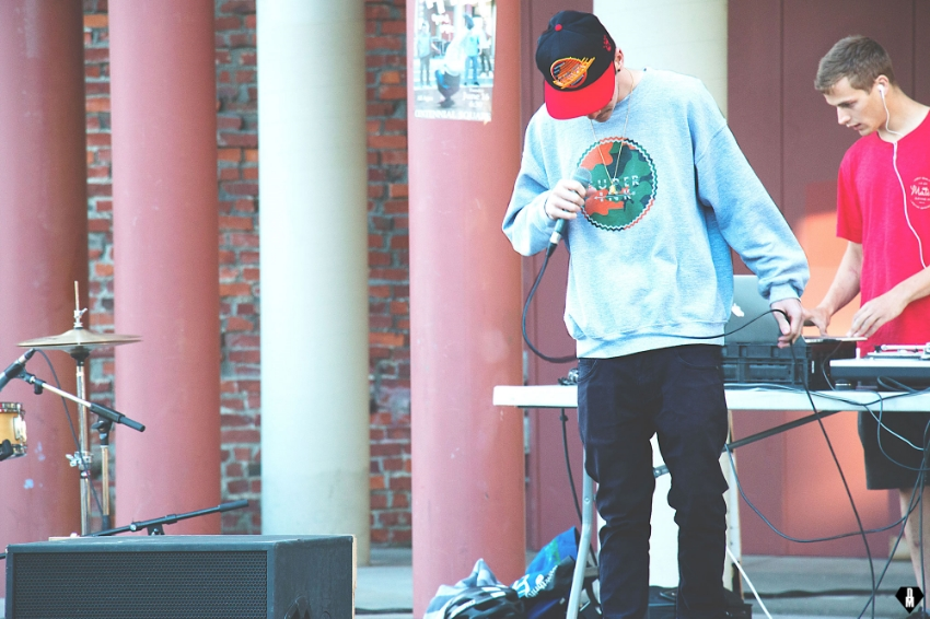Cole Letham performing at the monthly, Hip Hop Open Mic in Victoria BC.