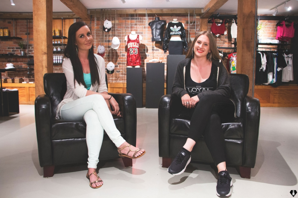Ami Corin DeMelo (left) and Heather Campbell (right), founders and creators of Loyal Coalition, and now storefront owners of The Basement