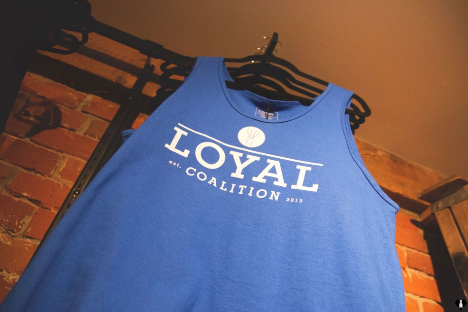 The Blue Loyal tank, sold exclusively at The Basement.