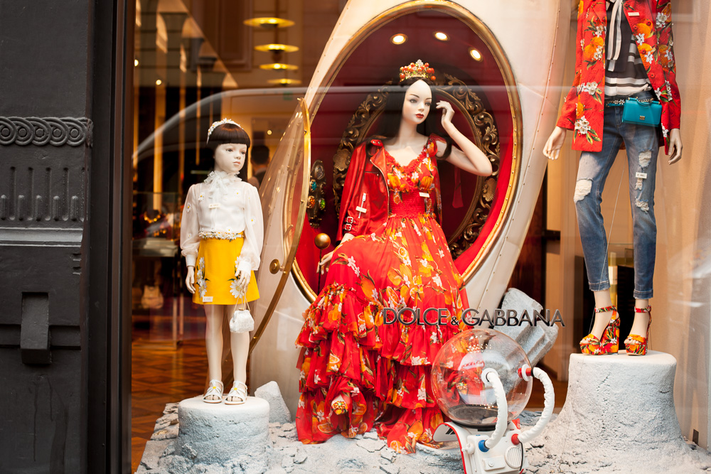 Dolce and Gabbana window display