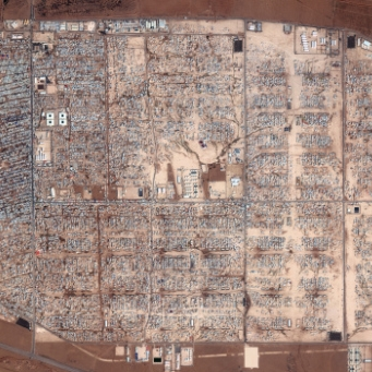 Zaatari in July 2013. Source: Digital Globe