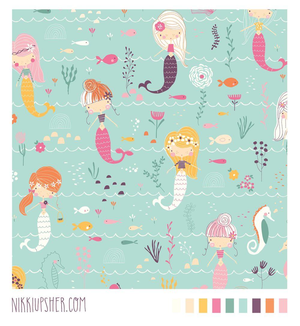 mermaid pattern repeat