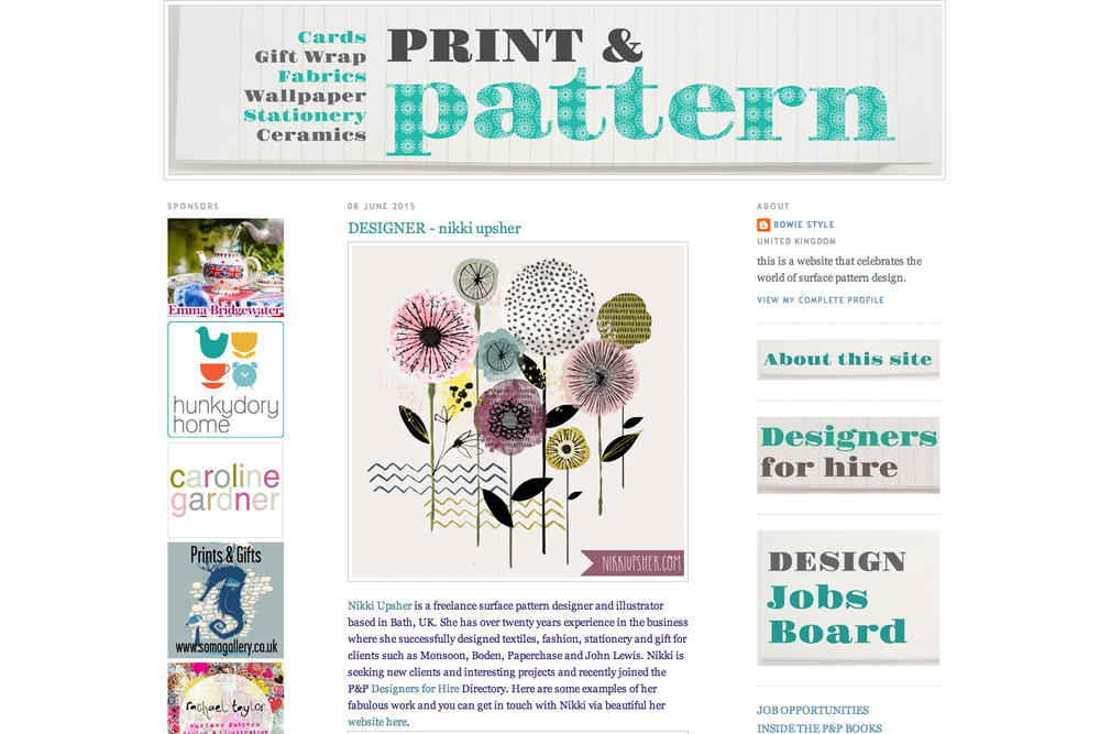 print & pattern blog feature