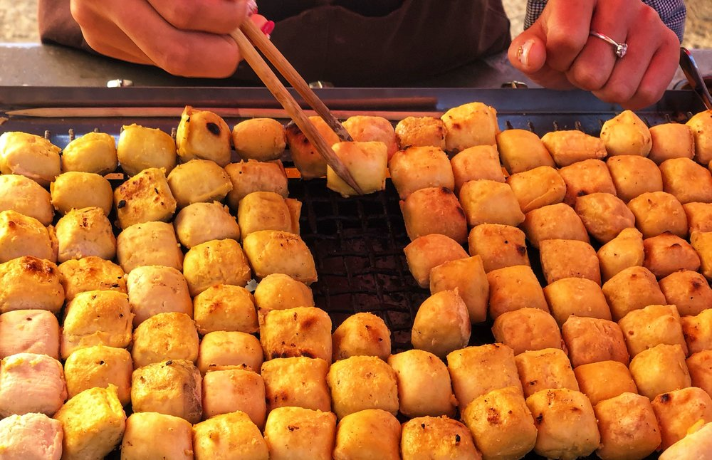 Stinky tofu, it sure smells but I'm a fan of the flavour, not as stong as you'd think.