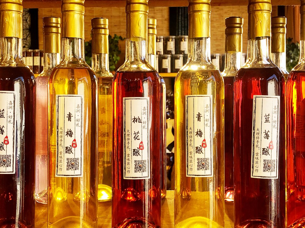 Flower flavoured alcohol.