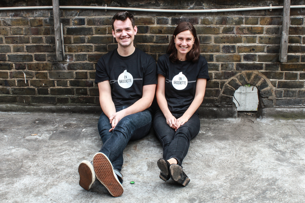 Paul Human and Ika Kutateladze, co-founders of En Brochette