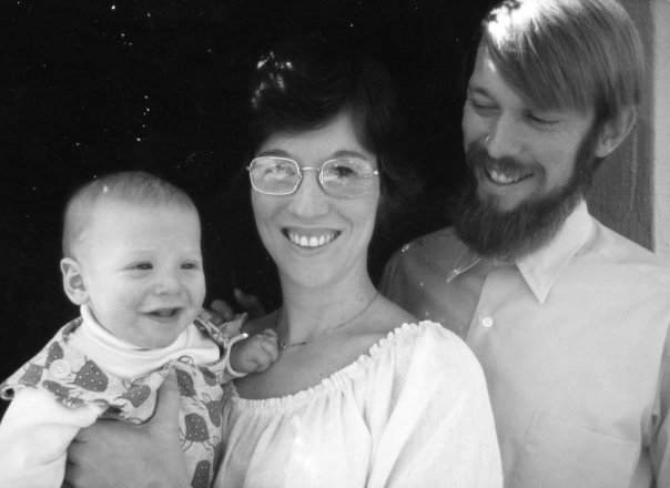 With my folks as a little guy.