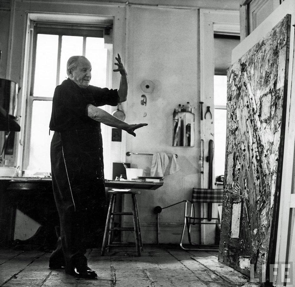 HANS HOFFMAN IN HIS STUDIO