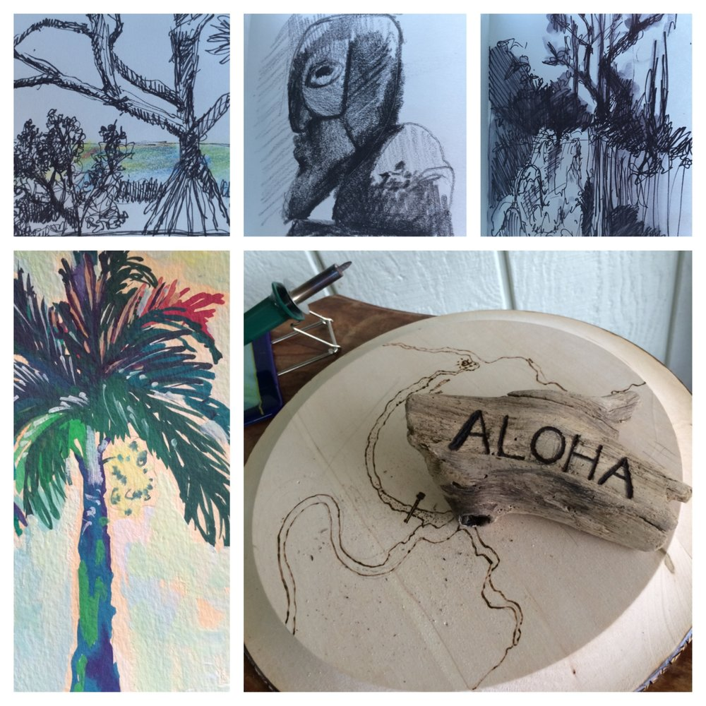 sketches from Hanalei, HI