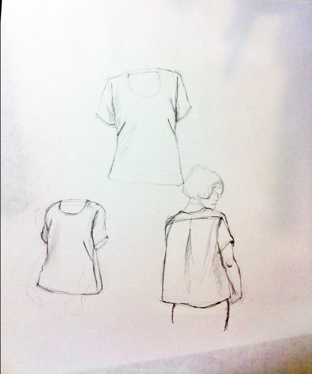 Early sketches of the Cabin shirt.