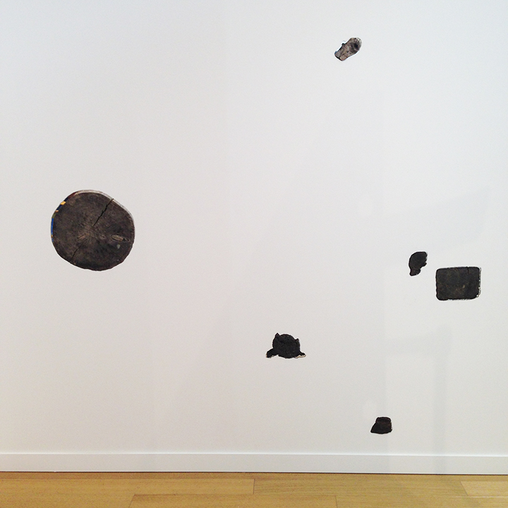 David Brooks, Myopic Wall Composition (w/ chainsaw- cut wood found in historic Walden Woods), 2014