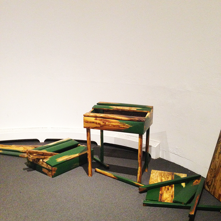 Hilary Wilder,  Greatest American Hero (Thoreau's Desk Eight Times) , 2011-2014