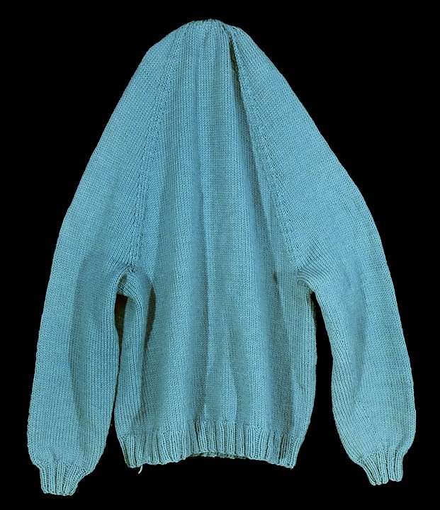 Andrea Sherrill Evans,   The Headless Sweater,    hand knit wool, 2009