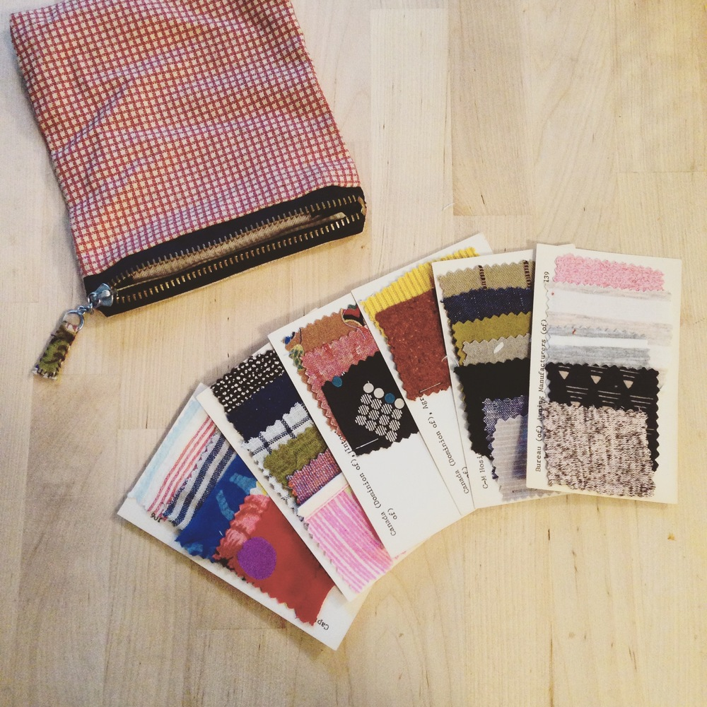 I recently compiled swatch cards of some of my me mades, to help be smarter about buying fabric and coordinate with what I already have.