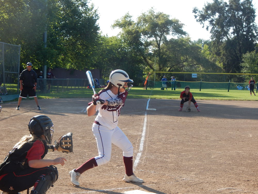 Kendall Henry taking a Swing During Woodcreek's playoff game versus Bella Vista ( Jeremy McDonald- 65 Sports)