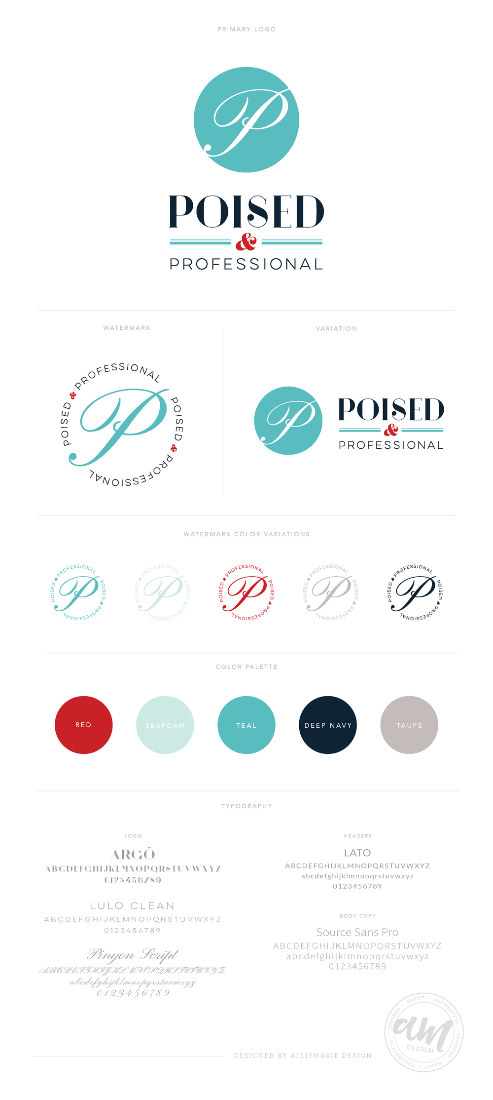 Poised & Professional Branding Board