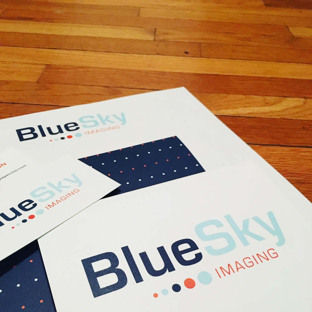 BlueSky Imaging Stationery - Business Cards, Letterhead and Envelope Design