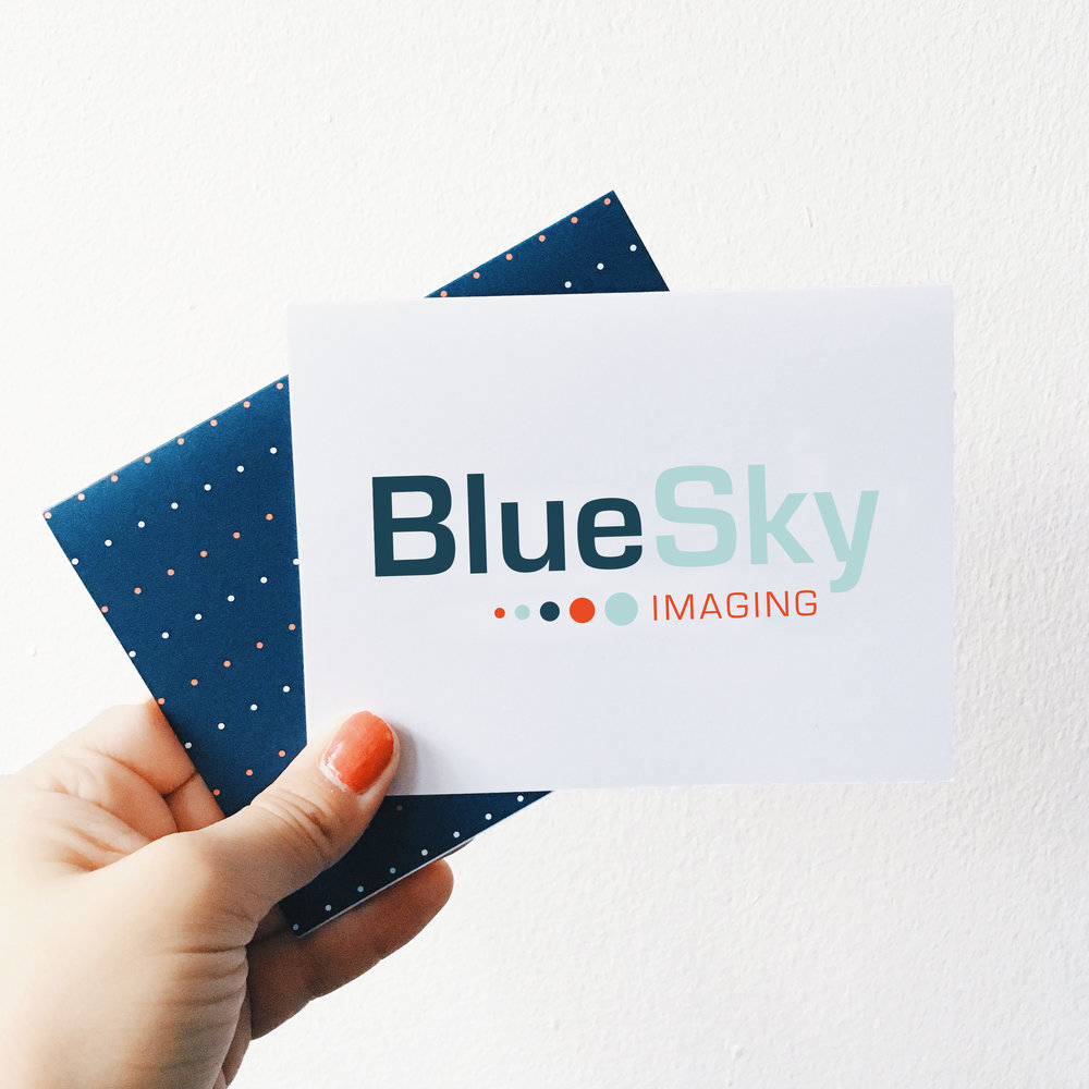 BlueSky Imagine Notecard and Logo Design